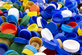 Plastic doppen inzamelen